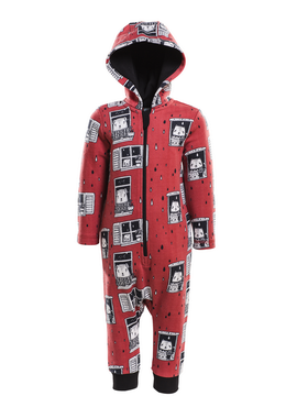 HOODED RAIN WATCHERS ONESIE