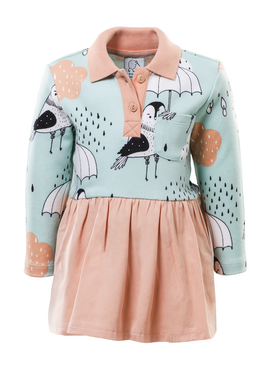 LS SHIRT WAIST KIDS DRESS