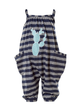 STRIPED WIPEOUT ROMPER